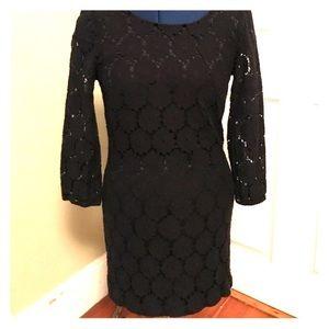 2HEARTS//black lace long sleeve dress M